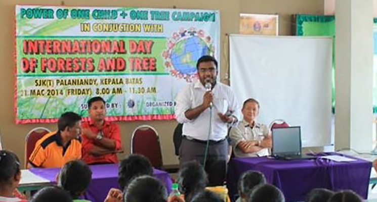 The Power of One Child + One Tree Campaign at Palaniandy Tamil School, State of Penang, Malaysia